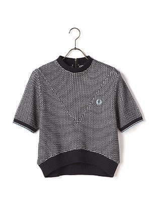 77Circa Two Colour Texture Knit Shirt