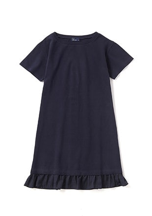 Textured Short Sleeve Dress