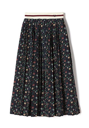 Liberty Pleated Long Skirt