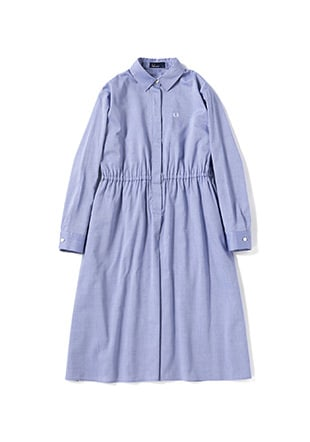 Back Pleated Shirt Dress