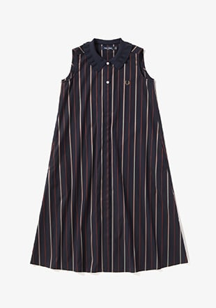 Rib Collar Shirt Dress