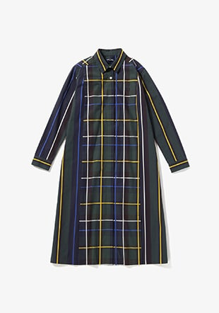 Panelled Woven Shirt Dress