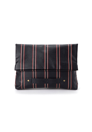 Regimental Stripe Clutch Bag