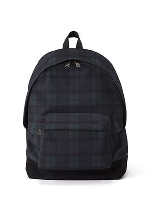 Pique Blackwatch Print Backpack