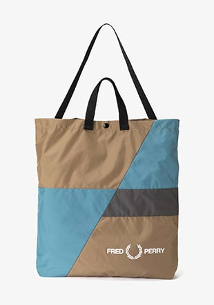 Colour Block Shoulder Tote Bag