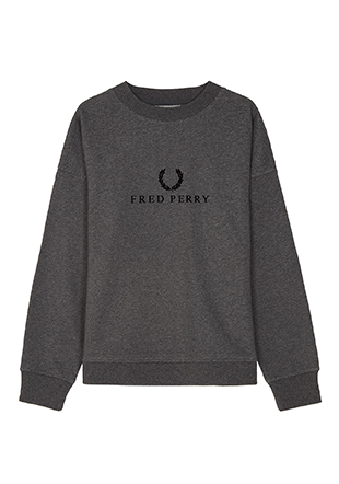 Textured Branded Sweatshirt
