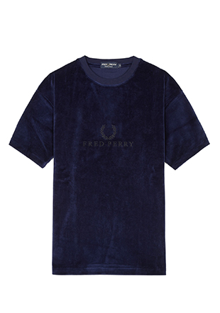 Embroidered Velour T-Shirt
