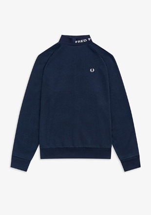 High Neck Fred Perry Sweatshirt