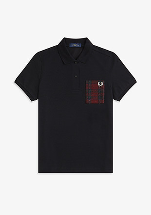 Tartan Patch Polo Shirt