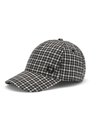 Gingham Check Baseball Cap