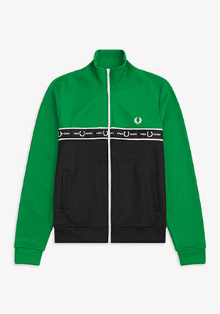 Taped Col Block Track Jacket
