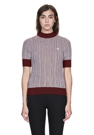 Reissues Two Colour Turtle Neck Shirt