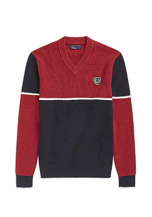 Shield Badge V-Neck Jumper