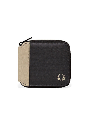 Coated Canvas Zip Around Wallet