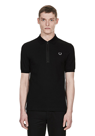 Laurel Wreath Half Zip Pique Shirt