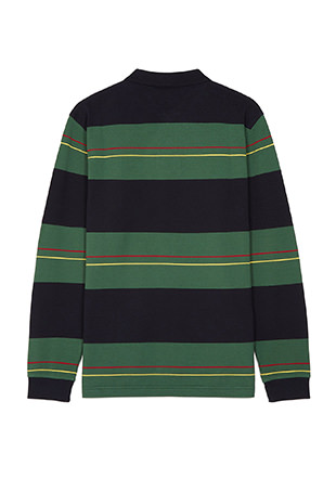 Paneled Stripe Pique Shirt