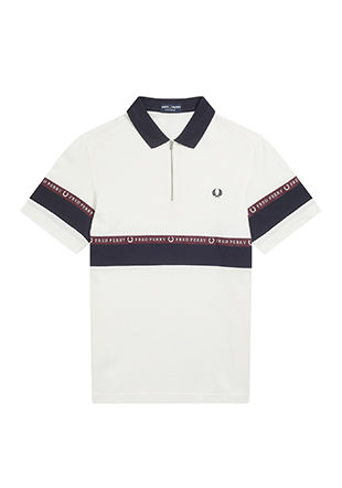 Half Zip Sports Tape Pique Shirt