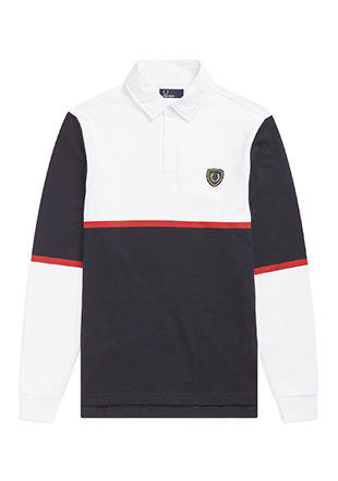 Stripe Shield Badge Shirt