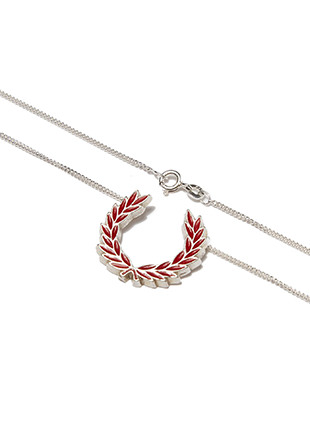 Enamelled Laurel Wreath Necklace