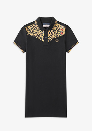 Amy Winehouse Leopard Print Pique Dress