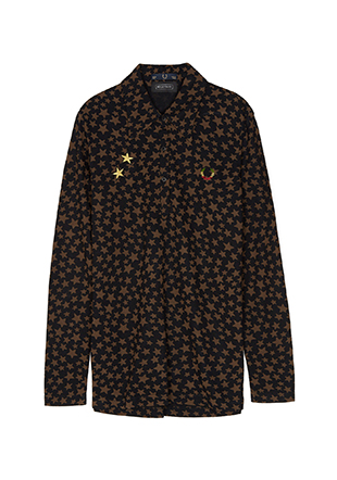Bella Freud L /S Star Print Pique Shirt