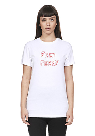 Bella Freud 'FRED PERRY' Print T-Shirt