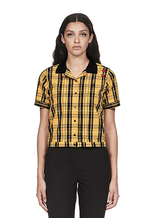 Amy Winehouse Tartan Bowling Shirt