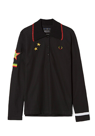 Bella Freud L/S Star Embroidered Pique Shirt