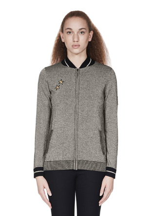 Bella Freud Sparkle Knit Bomber Jacket