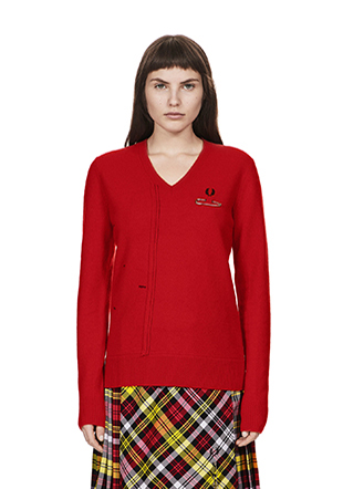 Le kilt Cut & Sew V-Neck Jumper
