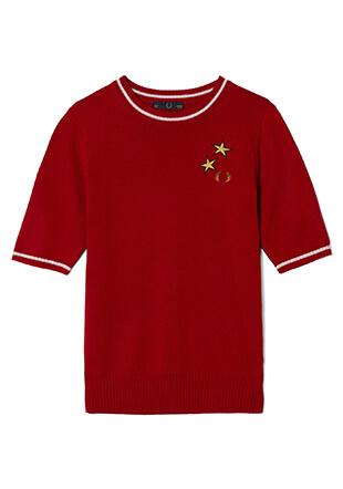 Bella Freud Star Emboidered Knitted Crew Neck
