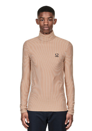 Raf Simons Striped Rollneck Shirt