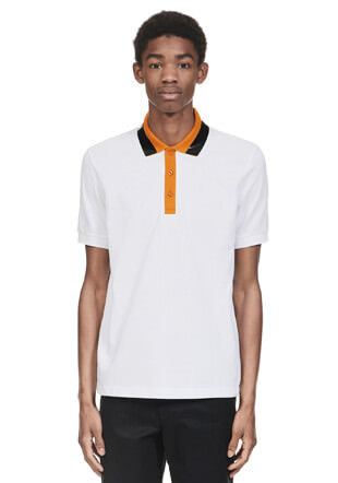 Raf Simons Tape Collar Pique Shirt