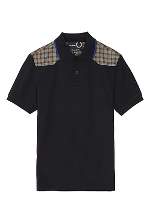 Raf Simons Check Shoulder Pique Shirt