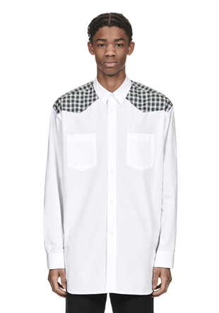 Raf Simons Check Yoke Panel Shirt