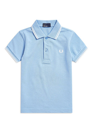 Kids Twin Tipped Fred Perry Shirt
