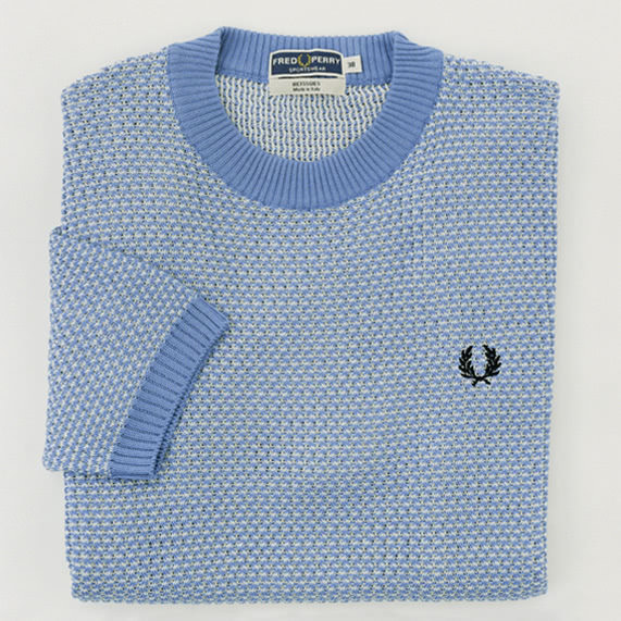 REISSUES TWO-COLOUR KNITTED CREW NECK