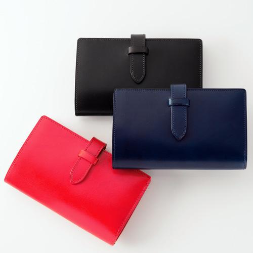 Munekawa fasten ストラップ付縦長二つ折り財布
