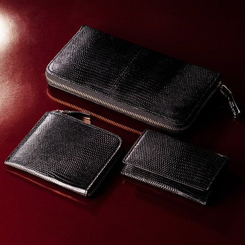【PELLE MORBIDA】Barca/Card Case RING LIZARD