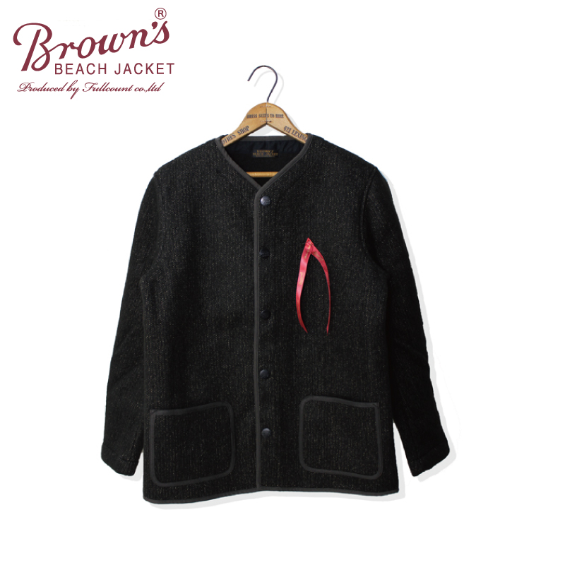 BROWN'S BEACH NO COLLAR JACKET【一部再入荷!】