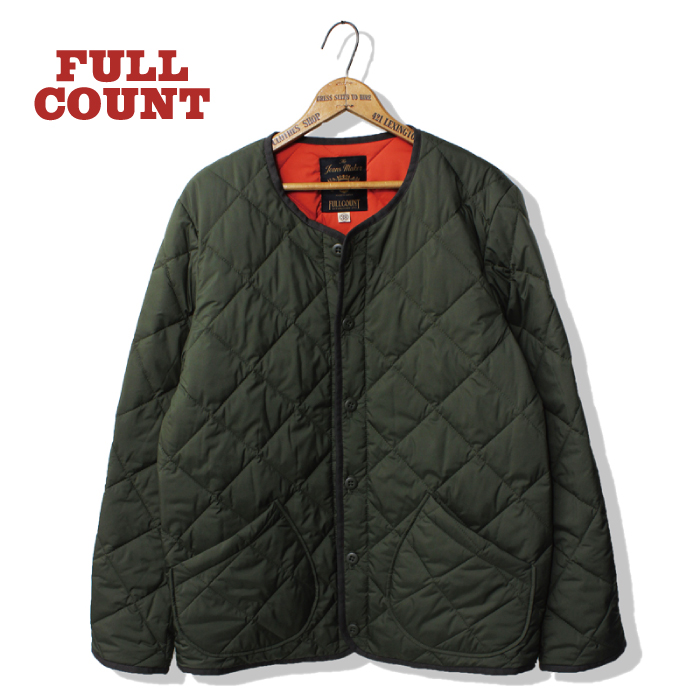QUILTING COLLARLESS JACKET