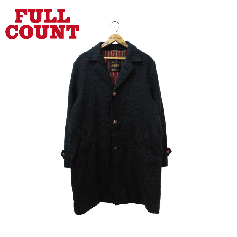 MOON TWEED STAND FALL COLLAR COAT