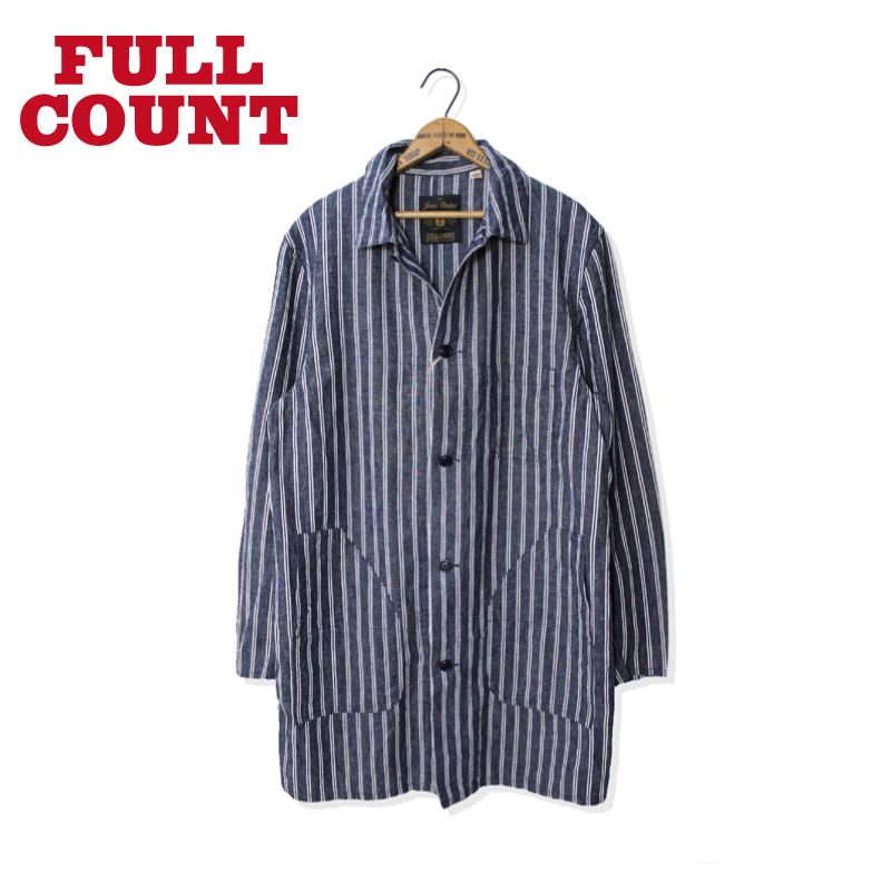 COTTON LINEN STRIPE ATELIER COAT【新発売!】