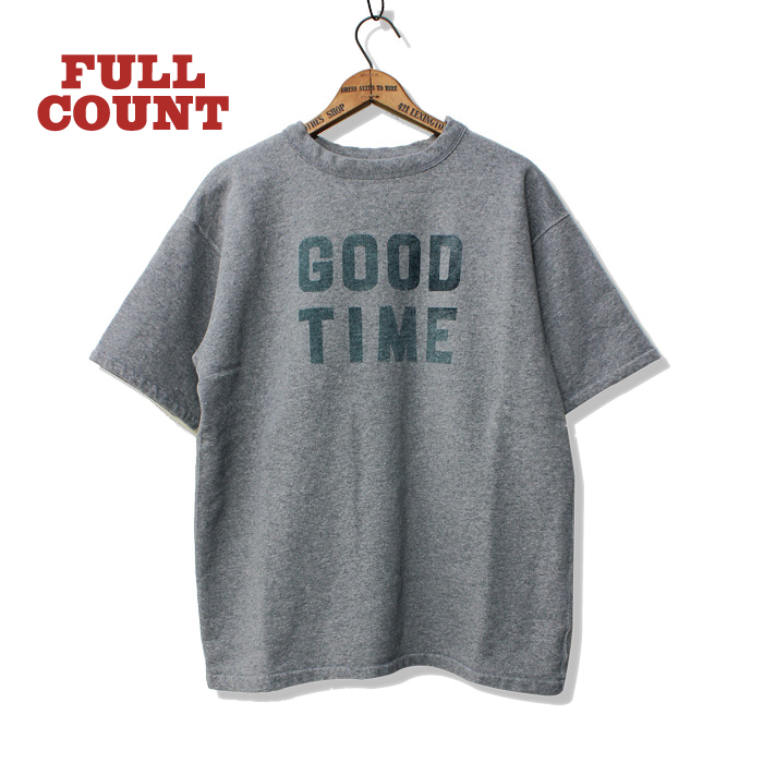 "SHORT SLEEVE SWEAT TEE ""GOOD TIME"""