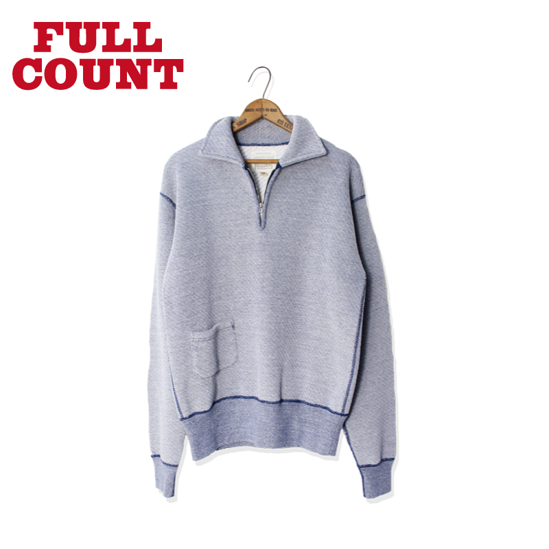 COTTON TWEED (ZACZAC) HALF ZIP SWEAT[残り僅か!]