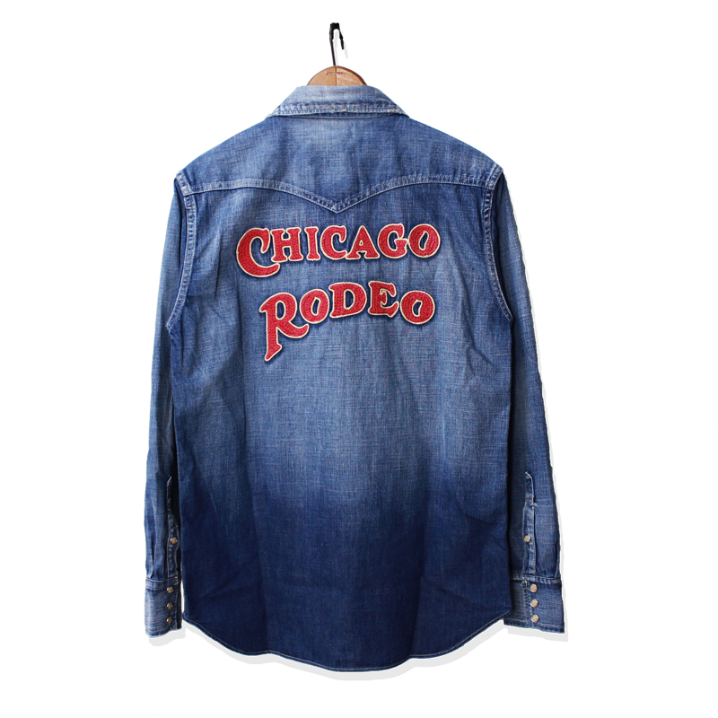 "DENIM WESTERN SHIRTS CHAIN EMBROIDERY""SAN ANTONIO 2"""