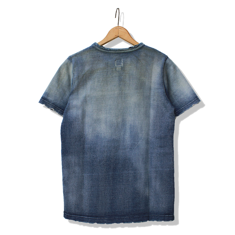 INDIGO TEE''DIRTY WORK''