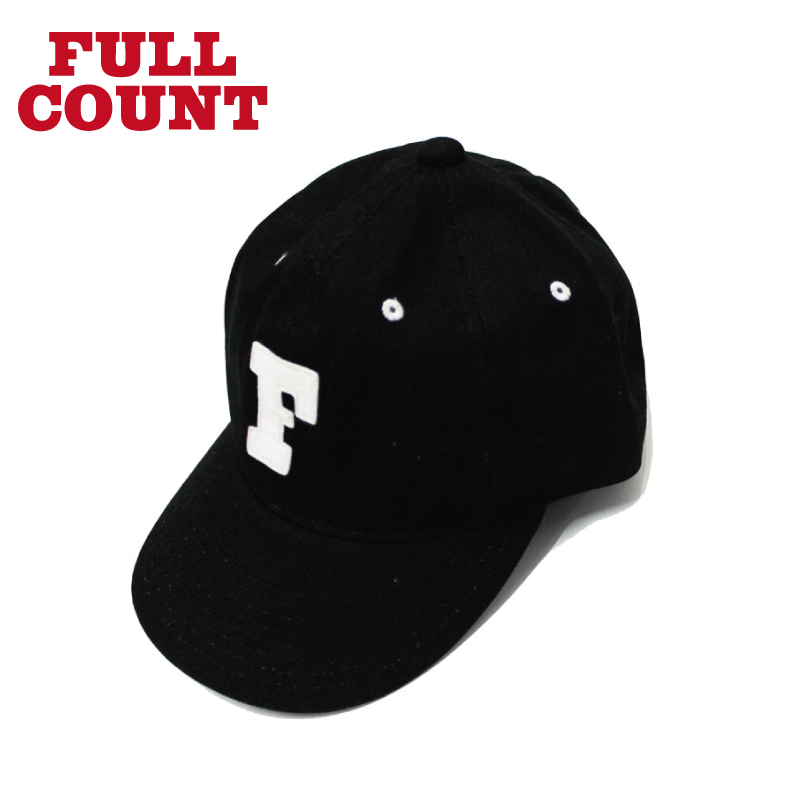 BLACK TWILL F BASEBALL CAP
