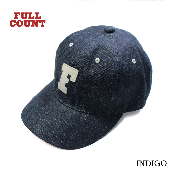 6PANEL DENIM F BASEBALL CAP