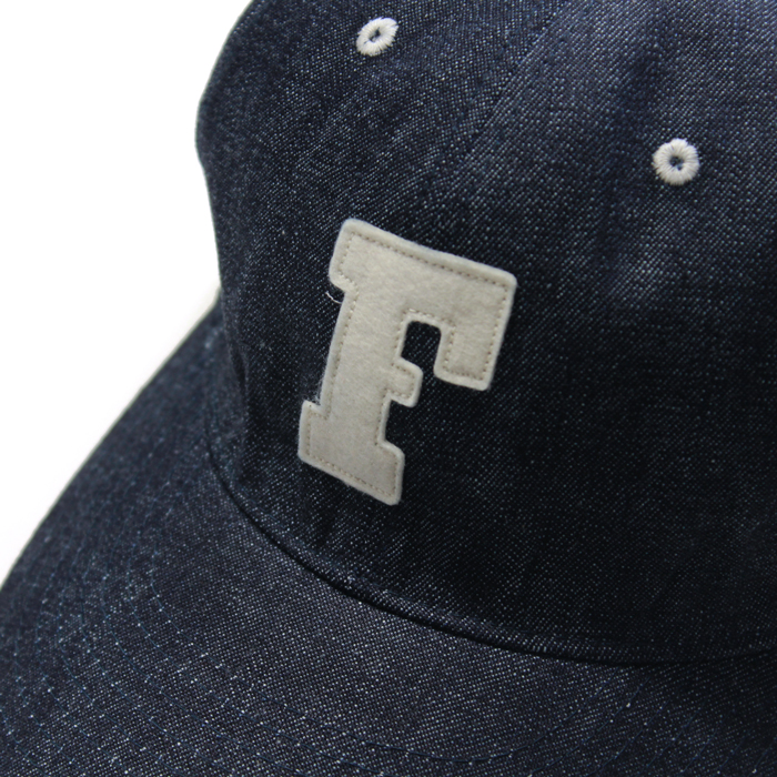 6PANEL DENIM F BASEBALL CAP【再入荷!】